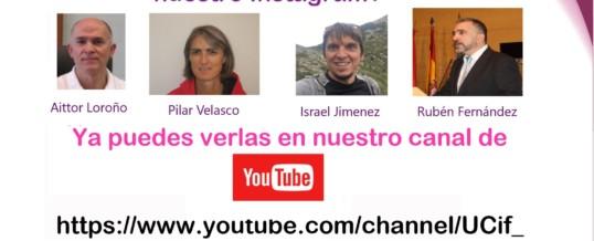 Ciclo de charlas ahora en nuestro canal de YouTube
